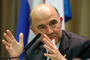 France's Finance Minister Pierre Moscovici attends a news conference, part of the G20 finance ministers and central bank governors' meeting, in Moscow, July 19, 2013.