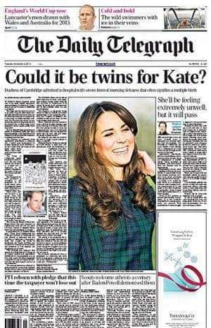 Royal baby predictions: Daily Telegraph