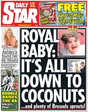 Royal baby predictions: Daily Star