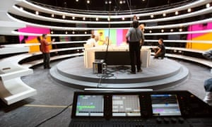 General view of the TV studio in Boulogn