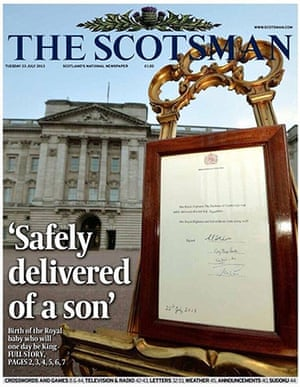 Royal baby front pages: The Scotsman