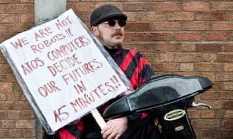 Anti-cuts demonstrators picket Atos Healthcare