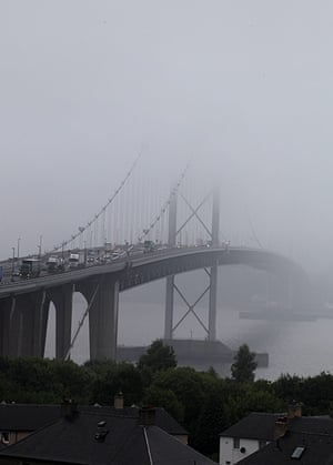 Stormy weather: Summer appears to have come to an end, with heavy fog covering the Forth Ro