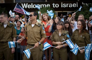 A total of 231 Jewish immigrants were welcomed by Israeli soldiers and relatives on their arrival. Israel's Law of Return accords any Jew and eligible non-Jewish relatives the legal right to assisted immigration and settlement in Israel, as well as Israeli citizenship.