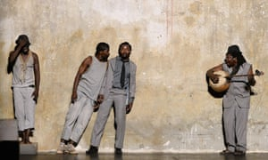 Actors from Burkina Faso and Mali perform a scene from the play 'Et si je les tuais tous Madame' in Avignon during the 67th International Theatre festival. Burkina Faso's Aristide Tarnagda wrote and directed the play.