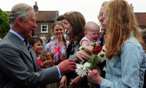 New grandad Prince Charles isn't managing to charm six month old Emily Scott as he meets crowds of well wishers on a visit to Bugthorpe, East Yorkshire.