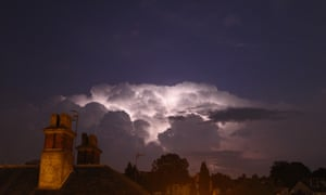 Storm clouds gathered over Tunbridge Wells in Kent last night, breaking the heatwave across parts of the UK in spectacular style.