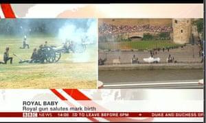 Gun salutes to mark the royal birth.