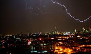 Lightning storm over London, Britain - 23 Jul 2013