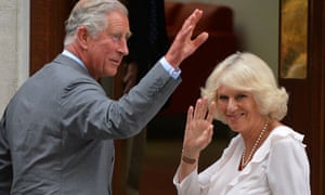 Prince Charles and his wife Camilla arrive at St Mary's Hospital in London