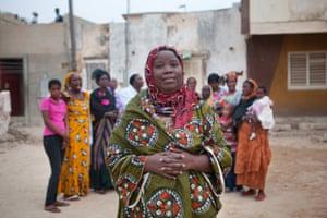 Aissatou Drame in a village square in Senegal