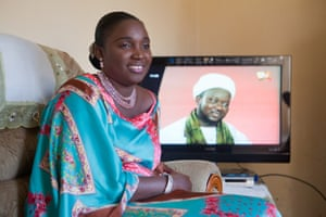 Laouratou Balde Mballo in her living room in Senegal