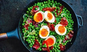 Omar Allibhoy's peas with serrano ham