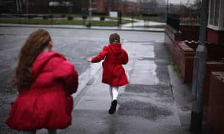 Young girls on council estate