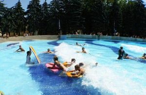 swimming pools: Palatinus Strand swimming pool, Budapest