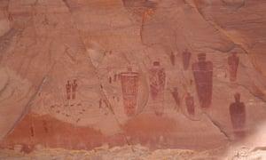 Petroglyphs at Horseshoe Canyon.