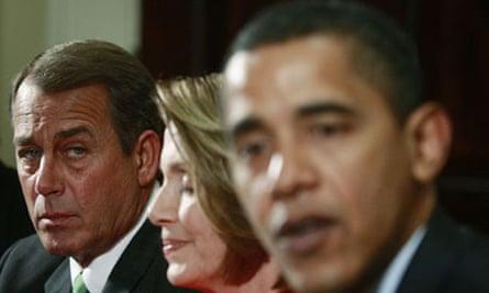 John Boehner, left, and Barack Obama