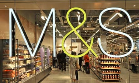 Marks & Spencer sign on window of food hall