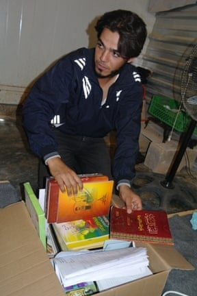 Hasan Hariri, a Syrian refugee in Zaatari refugee camp.