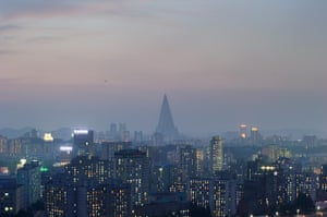 North Korea 60th: The Ryugyong hotel amongst the Pyongyang skyline