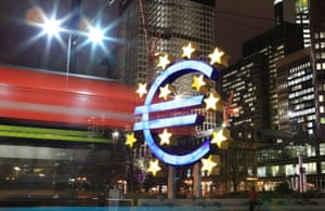 The headquarters of the European Central Bank (ECB) on January 8, 2013 in Frankfurt am Main.