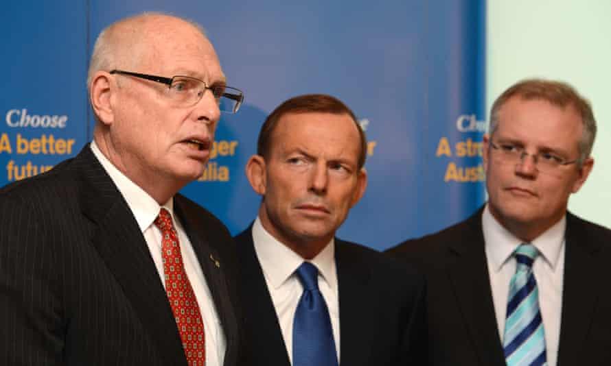 Tony Abbott, Scott Morrison and Jim Molan