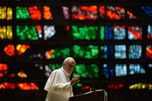 Pope Brazil updated: TOPSHOTS Pope Francis delivers a speech