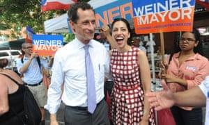 Anthony Weiner and Huma Abedin.
