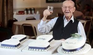 Britain's oldest man, Ralph Tarrant  on his 110th Birthday in Sheffield