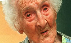 Jeanne Calment, reportedly the world's oldest livi