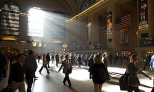 Commuters make their way through Grand Central Terminal