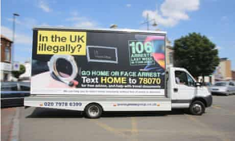 In the UK illegally mobile billboard