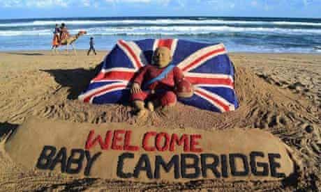 welcome baby cambridge sand sculpture