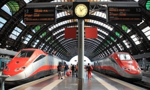 Milan central station.