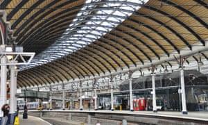 Newcastle-upon-Tyne railway station.