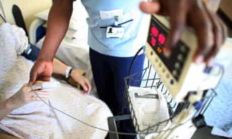 Nurse attends patient