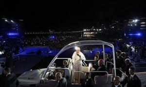 20 Photos: Pope Francis greets the Catholic faithful on Copacabana beach in Rio