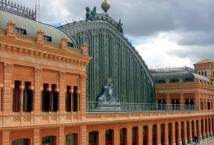 The exterior of Atocha station in Madrid.