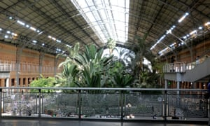 The interior of Atocha station in Madrid.