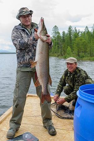 Putin in Siberia: President Putin fishing in Tuva
