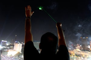 Cairo clashes: Laser shooter