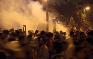 Cairo clashes: Tear gas