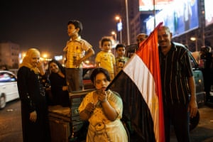 Cairo clashes: Protesting family