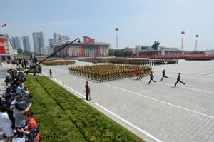 20 Photos: North Korean soldiers march through Kim Il-Sung square