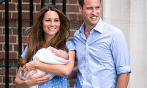 The Duke and Duchess Of Cambridge with the newborn Prince George
