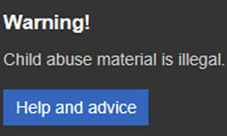 The pop-up warning on Microsoft's Bing search engine