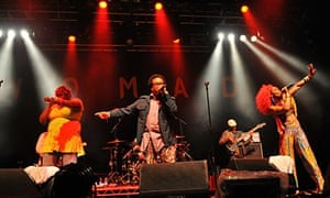 Arrested Development headline on stage during Day 3 of the WOMAD Festival 2013