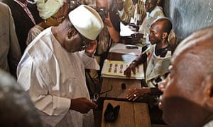 Ibrahim Boubacar Keita casts his vote