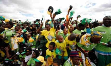 Zanu PF members at rally in Zimbabwe