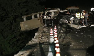 Coach crash in Avellino, Italy
